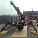 Spider crane overturn protection