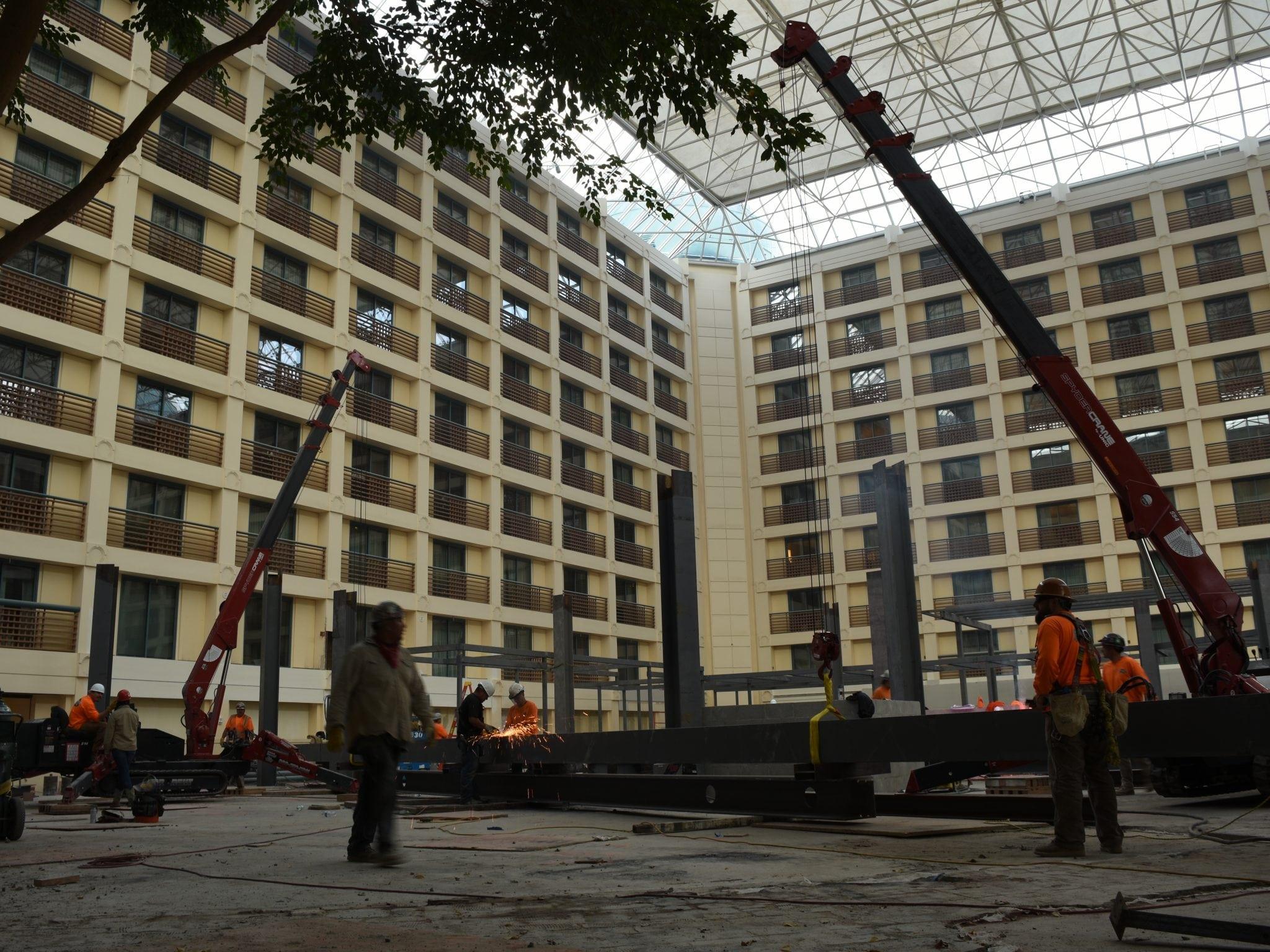 indoor steel crane