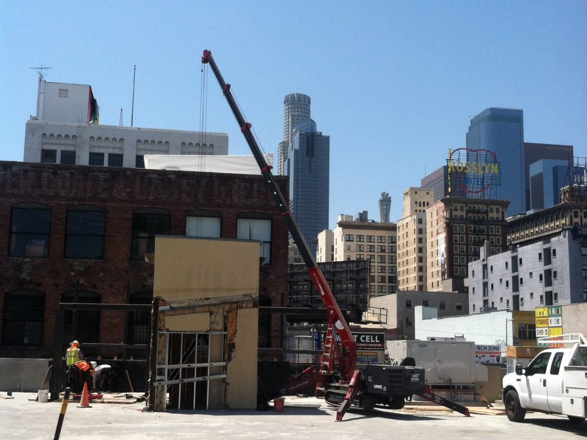 Crane downtown